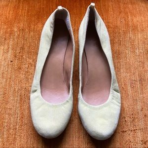 J. Crew Yellow Suede Leather Ballet Flats